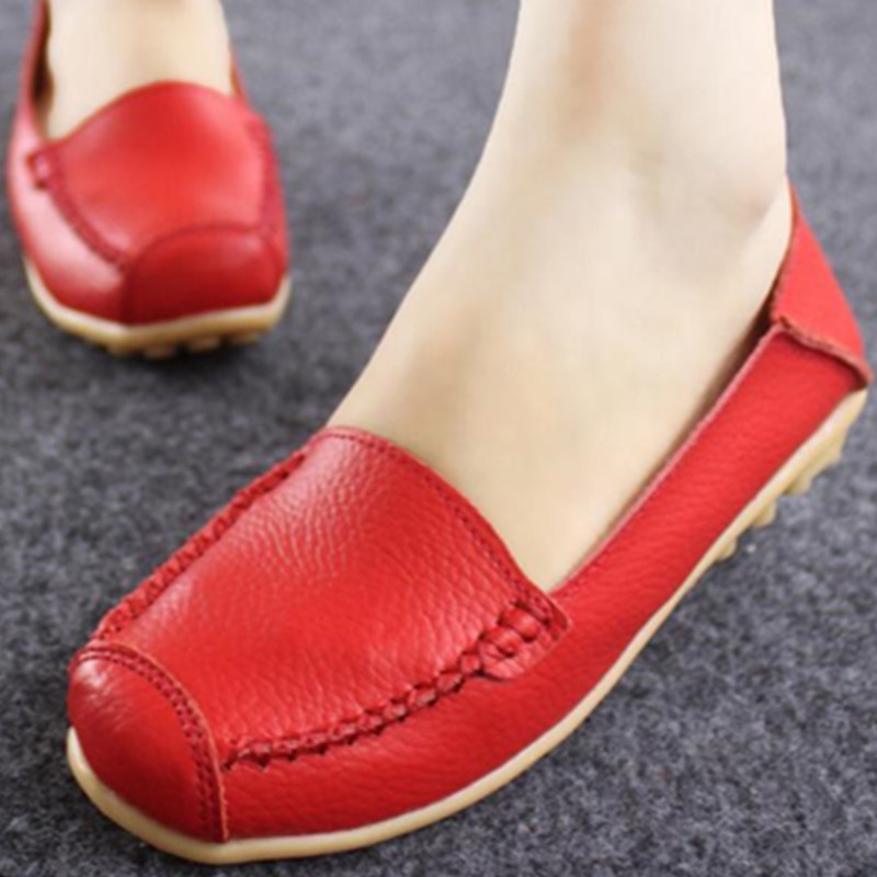 2017 Spring Hot Lady Leather Flat Shoes Woman Newest Fashion Female Casual Shoes Women Flats Soft Breathable JJ814<br><br>Aliexpress