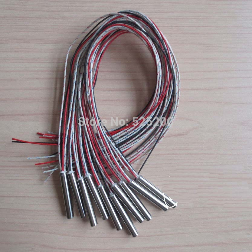1pcs Dia.6.5mm,Length40mm,230V100W,With Thermocouple Type K,Heater Cartridge,Heating Cartridge,Swaged in lead wire<br><br>Aliexpress