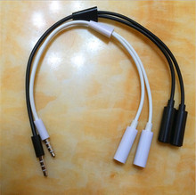 3.5mm 1Male to 2 Female Earphone Headphone Audio Extension Y Splitter Jack Cable