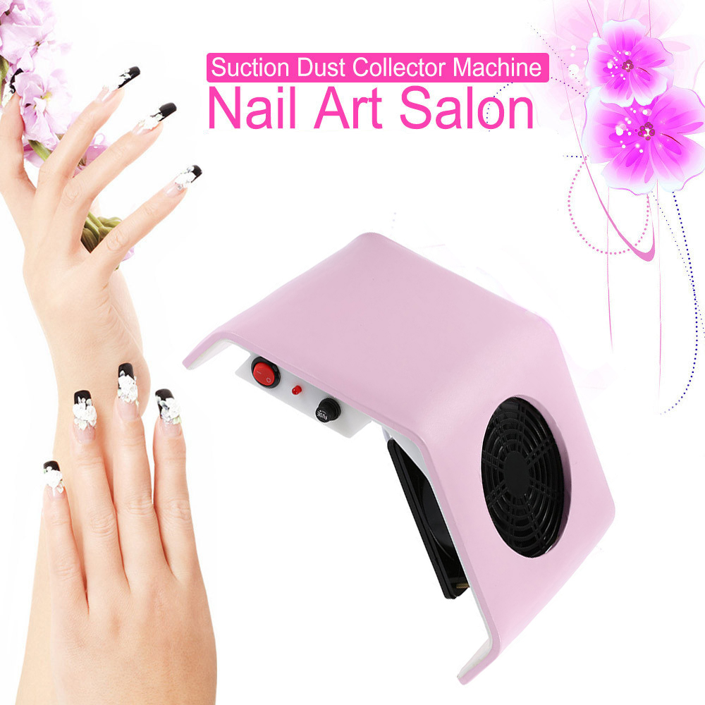 A Vacuum Cleaner For Manicure Pro Nail Dust Collector For Nails Art Design Salon DIY Device For Manicure 110v/220v Worldwide(China)