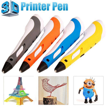 Perfect Chrismas Gift 3D Pen For Drawing LED Display DIY 3d Printer Pen Creating And Safe Voltage For Kids High Quality(China)