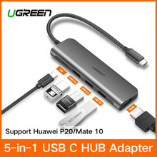 Ugreen USB C концентратора USB-C до 3,0 концентратор HDMI Thunderbolt 3 адаптер для MacBook samsung Galaxy S9/примечание 9 huawei P20 Pro Тип C USB HUB(China)