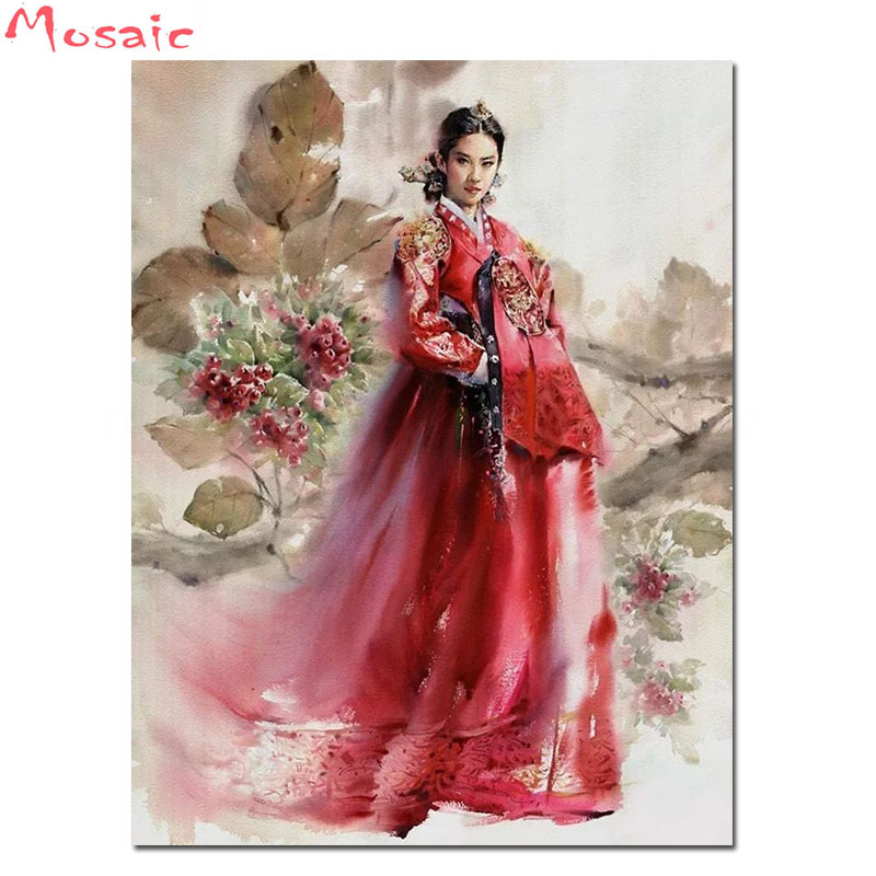 Mosaic Rhinestone Embroidery Painting-Sale Square/round-Drill Wall-Decor Art 5d Diy Korea-Style title=