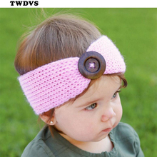 TWDVS Kids Soft Cotton knitting Headband Kids Ring Hair Elastic Bands Kids Hair Accessories W248