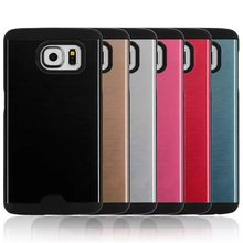 MOTOMO Brushed Metal Aluminium Alloy Case Hard PC Case For Samsung S6 edge Cell Phone Cover Protector Dust Proof Back Shell 1pcs