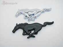 1 PCS Black Auto Car Trunk Fender Running Horse Decal Mustang Emblem Badge car Stickers car styling