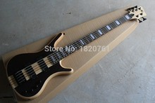 Top quality one-piece set neck W LTD Corvette NT 5 String Dark brown electric bass guitar With EMG Active Pickups 14930
