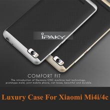 Free temperd glass! New Hybrid case For xiaomi mi4i PC frame+Silicon Protector back cover for mi4c 2 in 1 Shell phone housing(China)