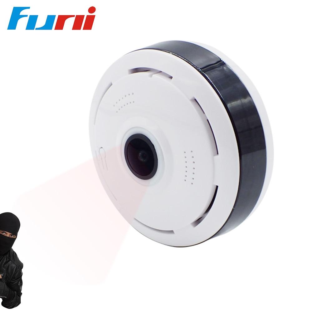 Funi IP Cam IP Camera Wireless Wi-fi Video Surveillance Night Security Camera Indoor Baby Monitor VR Panoramic Camera (White)<br>