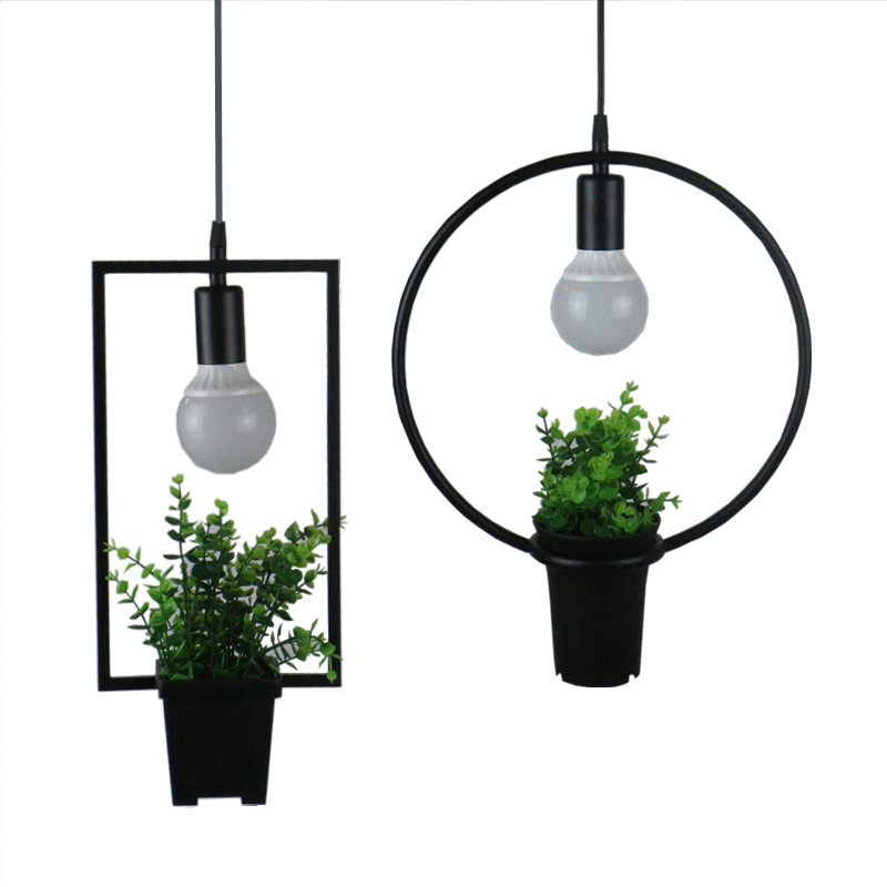 restaurant lamp indoor lighting plastic bonsai lamp Vintage pendant light LED lights  lampshade warehouse style light fixture<br>