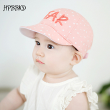 2017 Spring New Fashion Cotton Unisex Baby Baseball Hat 5-24 Months Summer Baby Boy Sun Hats Star Letter Adjustable Cap GH116(China)