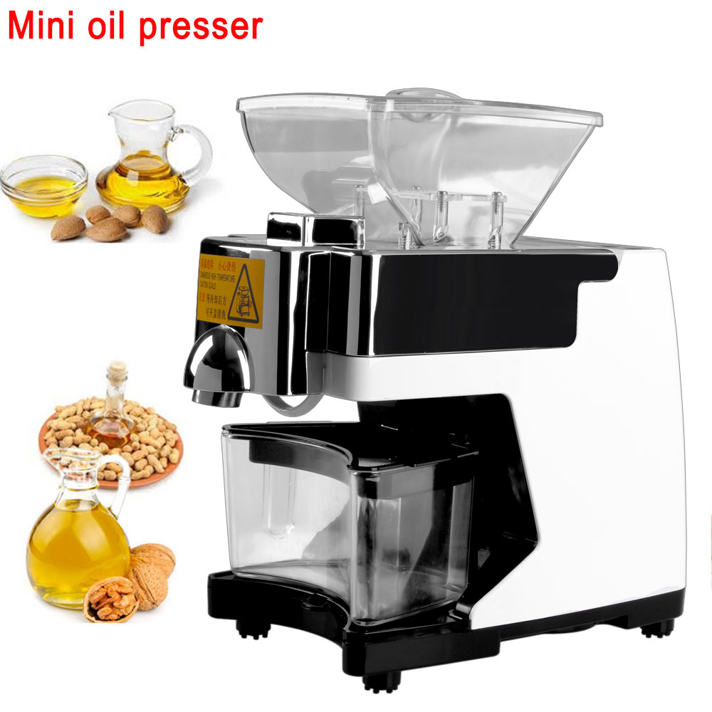 Free-shipping-220V-household-automatic-cold-OLIVE-KERNEL-oil-press-intelligent-home-small-oil-press-machine