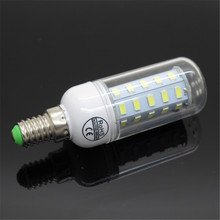 CE&RoHS Upgrade Version Smart IC SMD 5730 E14 LED Corn bulb 36LEDs Replace 12W Compact Fluorescent Lamp AC 220V Chandelier Light