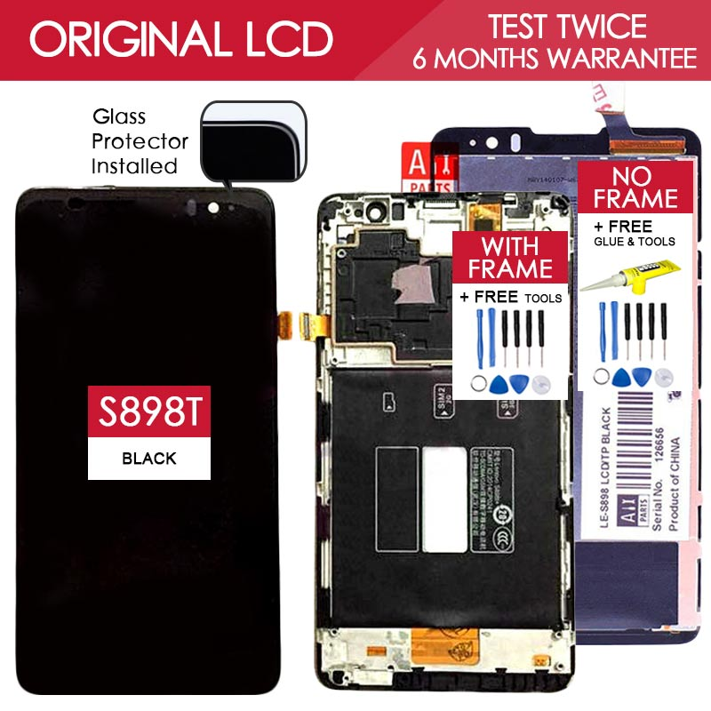 100% Tested Original 1280x720 Display For Lenovo S898T S898 LCD with Touch Screen Digitizer Assembly Replacement Parts<br><br>Aliexpress