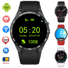 SHYAYA kw88 Android 5.1 Smart Watch 512MB + 4GB Bluetooth 4.0 WIFI 3G Smartwatch Phone Wristwatch Support Google Voice GPS Map