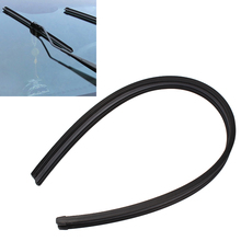 2Pcs/Set Car Wiper Strip Exterior Trim Insert Wiper Blade Car Accessories Rubber Car-Styling Winscreen Soft Wiper(China)