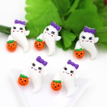 10pcs/lot kawaii flat back resin Halloween skull for kids DIY resin cabochons accessories about 25mm(China)