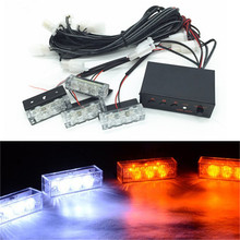 Blue / Red / Yellow / White Car Truck LED Strobe Flash Warning Light Emergency Grille Driving Running Lamp Police Firefighter