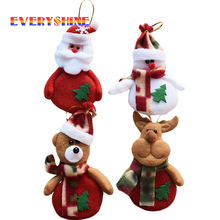 6pcs/lot Deer Snowman Pendant Christmas Tree Christmas Gift Santa claus Christmas Decoration Supplies Arbol De Navidad SD15(China)