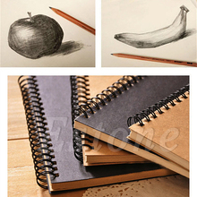 Retro Spiral Coil Sketchbook Notebook Diary Journal Student Note Pad Book Memo