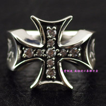 925 Sterling Silver Zircon Cross imported Silver Ring