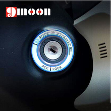 Luminous alloy Car Ignition Switch cover auto car accessories For TOYOTA 2014 COROLLA And 2014 LEVIN RAV4 Highlander