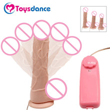 Toysdance Rotation And Vibration Dildo Sex Toys For Women 3 Size Realistic Big Cock Adult Sex Product Vibrating Penis Vibrator(China)
