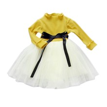 2017 Baby Girls's Dresses 2017 New Cotton Pits Knit Long Sleeves Dress Cute Vestidos