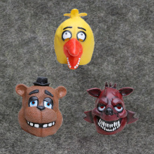 2016 Hot Game Five Nights At Freddy's Chica Foxy Fazbear Cosplay Full Latex Soft Mask Headgear FNAF Figures