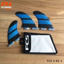 FCS II K2.1 fins Fibreglass Fin Hot Sale FCS2 surfboard surfing thruster with fcs bags