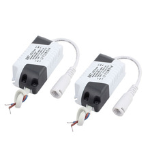 1-3 x 1W DC Female Connector Advanced Plastic Shell LED Driver Power Supply 2Pcs(China)