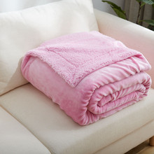 New 2017 Cashmere Fleece Blanket -- 1PC Thick Throw Blanket Thicker Warm Blankets for Sofa Car Travel 150*200cm New Brand