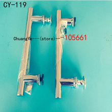 2 x SHOWER BATH DOOR HANDLES/KNOBS CHROME EFFECT CY-119