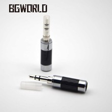 BGWORLD Advanced 3.5 mm 1/8'' Silver plated copper stereo jack 3 poles Connector plugs for earphone headset Equipped with sheath(China)