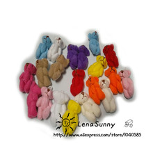 Wholesale 100pc/Lot 3.5cm Mini Joint Bear Teddy Bear Doll Cell Phone Pendant ,mini joint plush keychain bear bouquet toy(China)