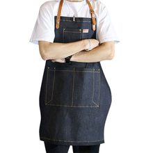 Wholesale Detachable Belt Apron Sleeveless Working Apron Painter Baker Cafe Barista Workwear Flower Shop Aprons for Woman