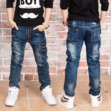 New Year, jeans boy Fit: 3 4 5 6 7 8 9 10 11 12 13 14 years old children wear fashionable style and high quality kids jeans 1189(China)