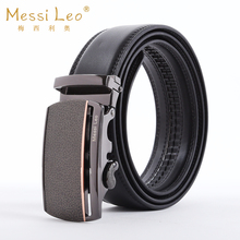 Hot Sale Messi Leo Man Automatic Buckle Belts Genuine Men's Leather Belts Cowskin Fashion Casual Belt For Male Formal Novelty(China)
