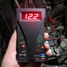 DHL 20PCS New 12V Digital Battery Alternator Tester LED Display Volt Check For Car Motorcycle(China)