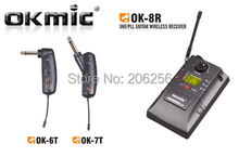 2017 HOT OKMIC OK-8R 1 receiver +2 transmitter OK-6T OK-7T WIRELESS GUITAR SYSTEM MUSICAL INSTRUMENT EQUIPMENT(China)