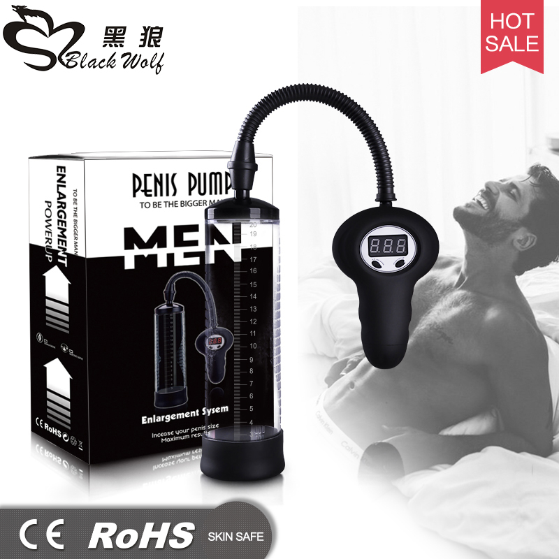Electric penis pump penis enlargement electric vacuum pump penis digital vacuum extender enhance exercise male sexual product<br>