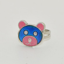 2016 Fashion New most lovely little Bear mood change color ring According to the temperature change colors Free shipping