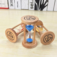 3 Mins Wooden Frame Sandglass Sand Glass Hourglass Time Counter Count Down Home Kitchen Timer Clock Decoration Gift ZA2551
