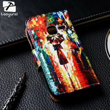 Luxury Painted PU Leather Cases For Samsung Galaxy Ace Duos S6802 GT-S6802 6802 Covers Card Holder Phone Bag Wallet Flip Holster