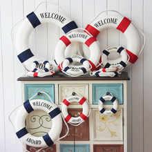 Fashion Mediterranean Style Wall ornament Life Buoy Foam Crafts Living Room Decoration Pub Home Wall Foam Ring Decoration