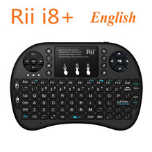 [Genuine] Rii i8+ 2.4G Wireless English Backlight Mini Keyboard TouchPad Mouse Backlit Gaming Keyboard For HTPC Tablet Mini PC