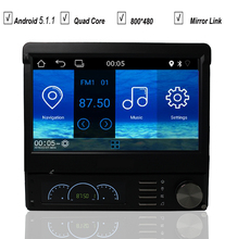 7 Inch Universal 1 Single Din Android 5.1 Car DVD GPS Player Radio Bluetooth Quad Core OBD DVR Mirror Link Wifi MAP DAB+SD USB