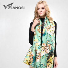 [VIANOSI] Brand Floral Scarf Women Wool Bufandas Warm Cashmere Winter Shawls and Scarves Woman VA051