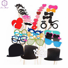 New design 44 Pcs/set Wedding Decoration Party Favors  Fun Lip photo booth props wedding party photography suppli