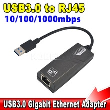External USB3.0 to RJ45 Network Card LAN Adapter USB 3.0 10/100/1000Mbps Gigabit Ethernet for windows XP 7 8 for Mac OS